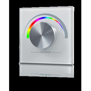 Радио панель W-RGB (W) встраиваемая в стену с валкодером на 1 зону  для RGB ленты, белая