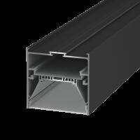 Подвеснойвстраиваемый/накладной алюминиевый профиль L9086, черный