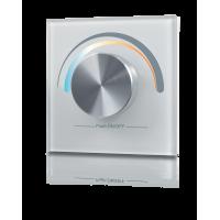 Радио панель W-CCT (W) встраиваемая в стену с валкодером на 1 зону  для MIX ленты, белая