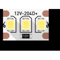 Лента светодиодная стандарт 2835, 204 LED/м, 22 Вт/м, 12В , IP20, Цвет: Холодный белый