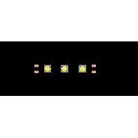 Лента светодиодная эконом 5050, 60 LED/м, 14,4 Вт/м, 12В , IP20, Цвет: Холодный белый