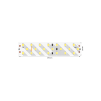 Лента светодиодная ПРО 2835, 252 LED/м, 24 Вт/м, 24В , IP20, Цвет: Теплый белый