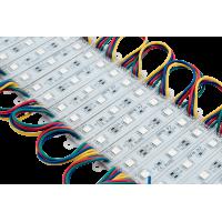 Модуль светодиодый SWG , 3LED, 0,72Вт, 12В, IP65, Цвет: RGB, провод 15см