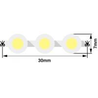 Лента светодиодная  DIP 5мм, 96 LED/м, 7,7 Вт/м, 12В , IP68, Цвет: Холодный белый, 970мм