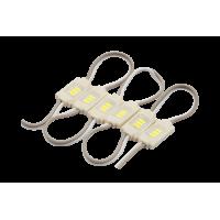 Модуль светодиодый бинованный SWG , 3LED, 0,3Вт, 12В, IP65, Цвет: 6000-6500К Холодный белый, провод 5,2см