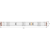 Лента светодиодная стандарт 5050, 30 LED/м, 7,2 Вт/м, 12В , IP65, Цвет: RGB